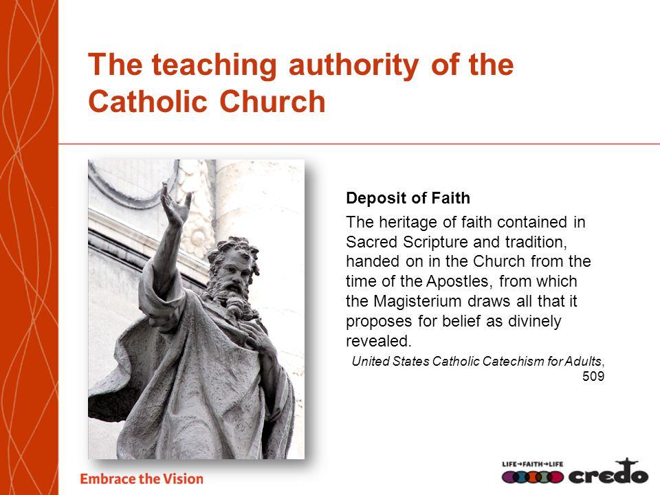 The teaching authority of the Catholic Church