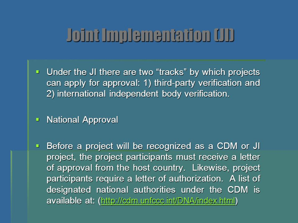 Joint Implementation (JI)