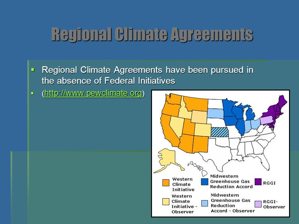 Regional Climate Agreements