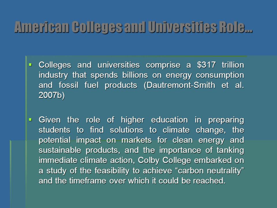 American Colleges and Universities Role…