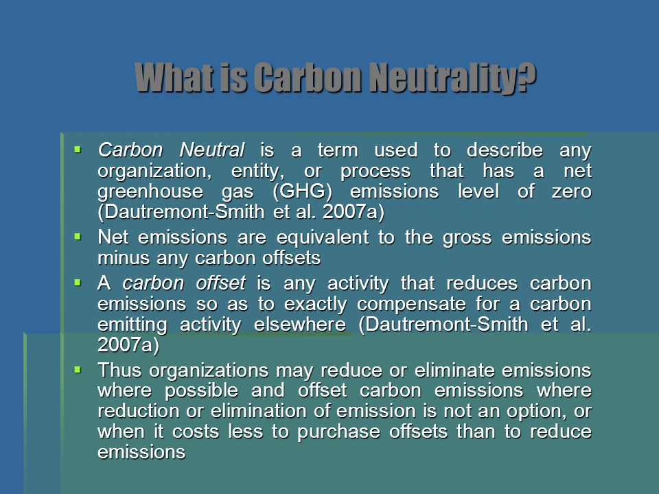 What is Carbon Neutrality