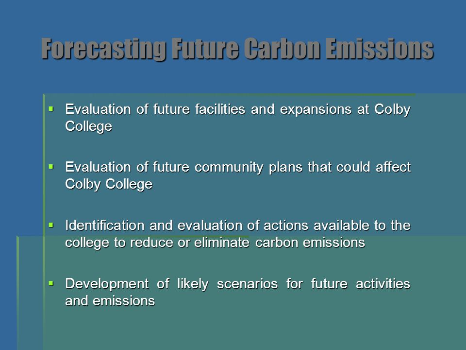 Forecasting Future Carbon Emissions