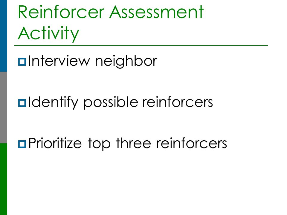 Reinforcer Assessment Activity