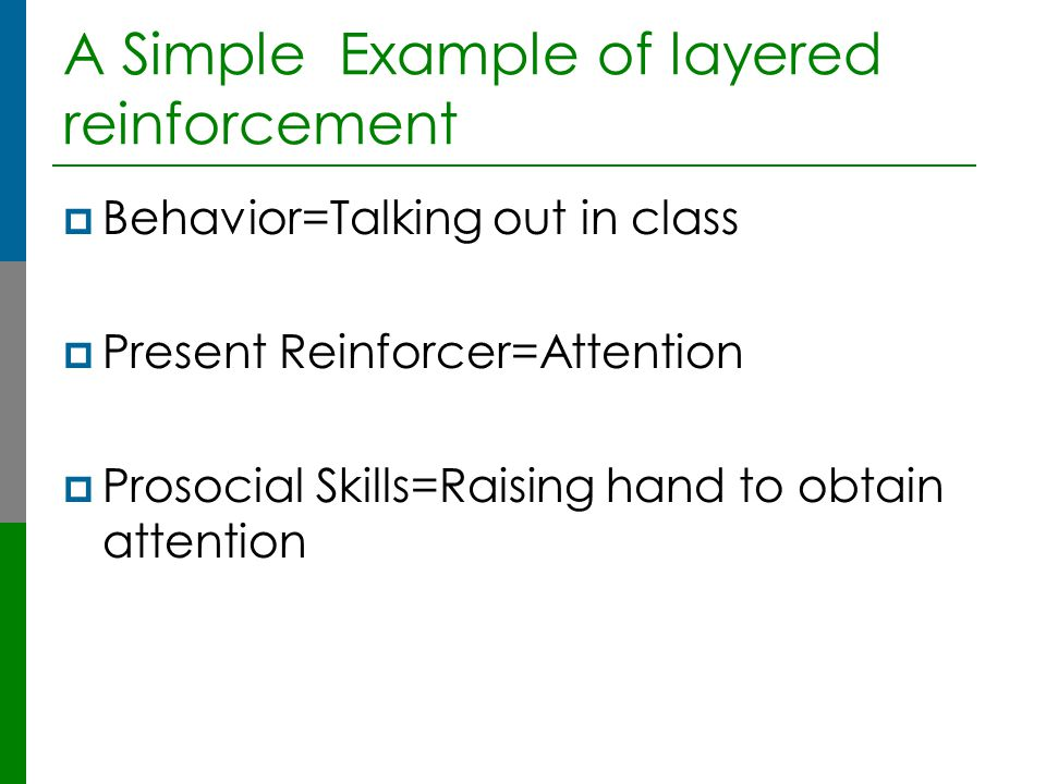 A Simple Example of layered reinforcement