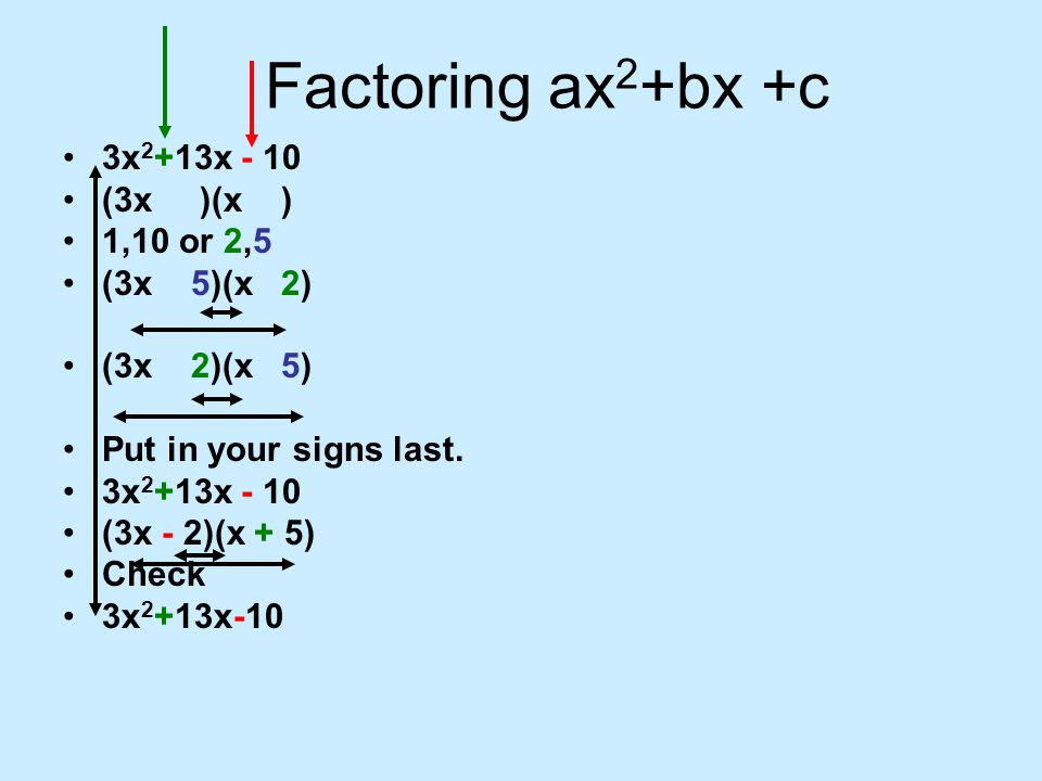 factoring ax2 bx c ax2 bx c ppt video online download. Black Bedroom Furniture Sets. Home Design Ideas