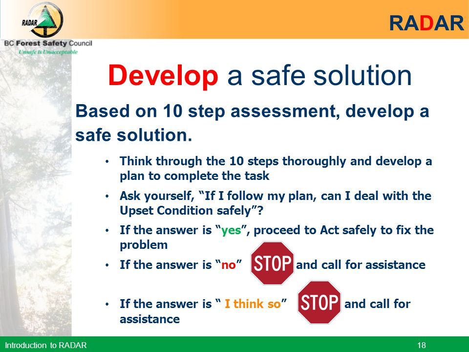 Develop a safe solution