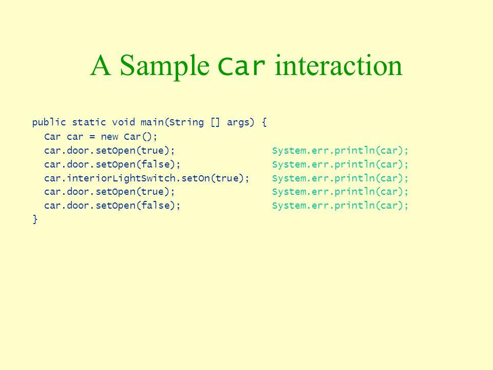 A Sample Car interaction