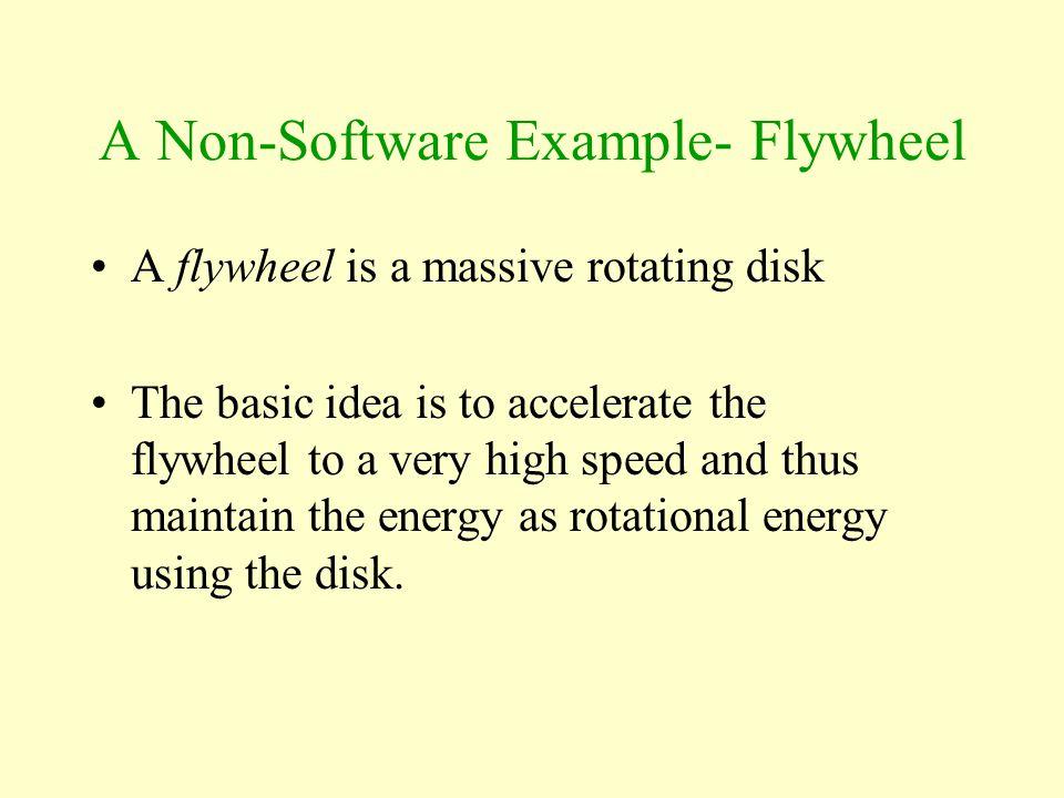 A Non-Software Example- Flywheel