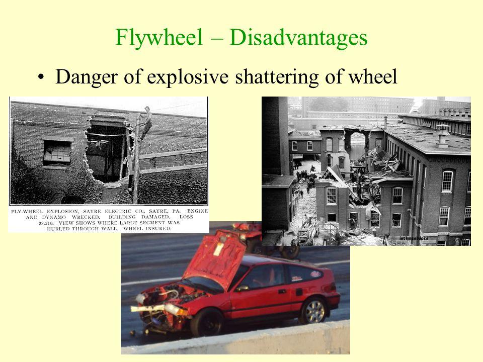 Flywheel – Disadvantages