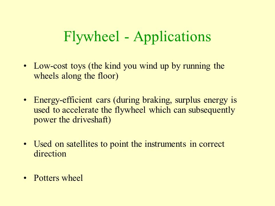 Flywheel - Applications