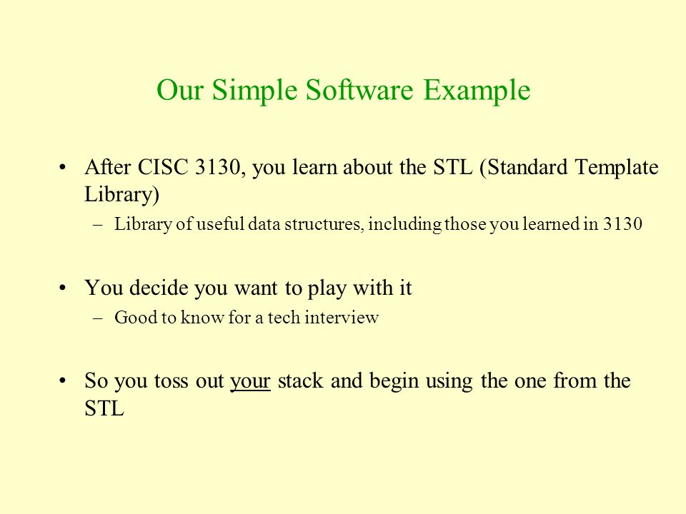 Our Simple Software Example