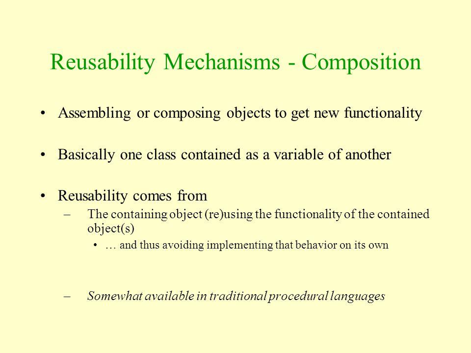 Reusability Mechanisms - Composition