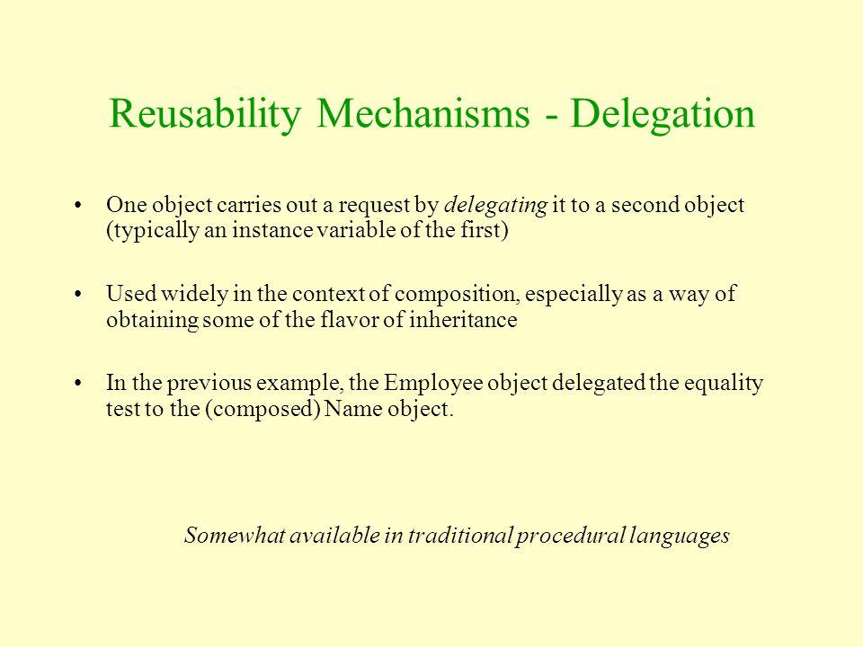 Reusability Mechanisms - Delegation