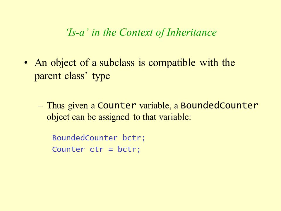 'Is-a' in the Context of Inheritance