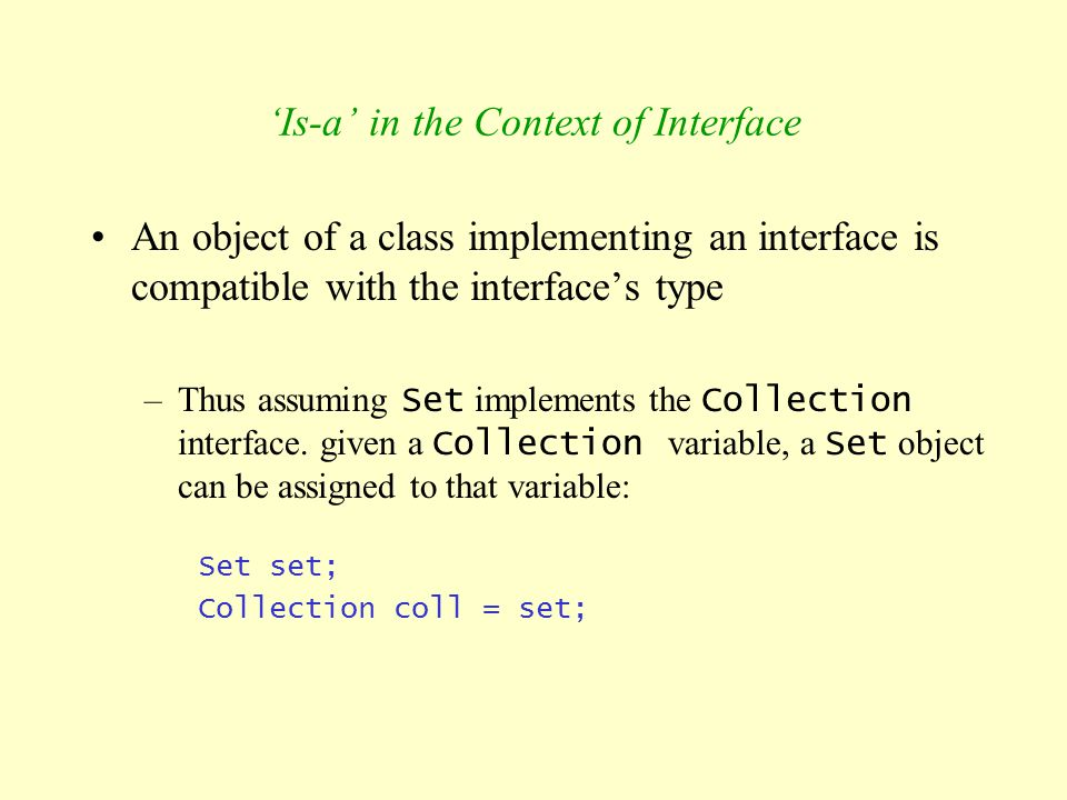 'Is-a' in the Context of Interface