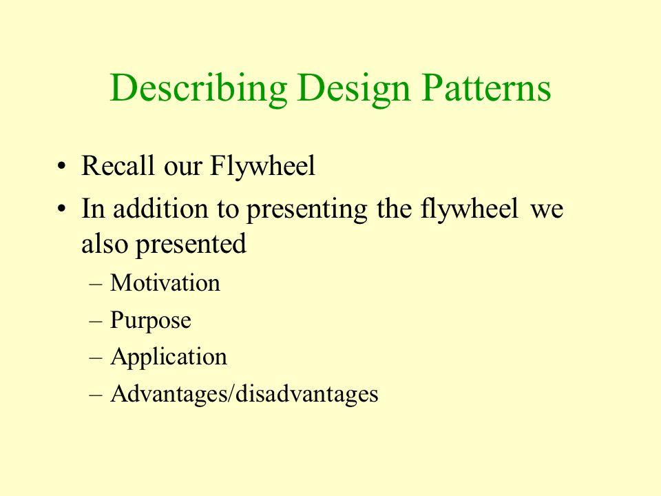 Describing Design Patterns