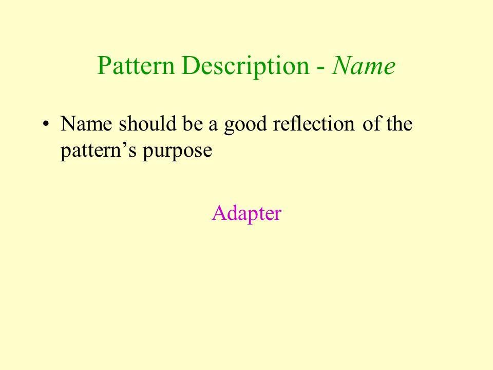 Pattern Description - Name
