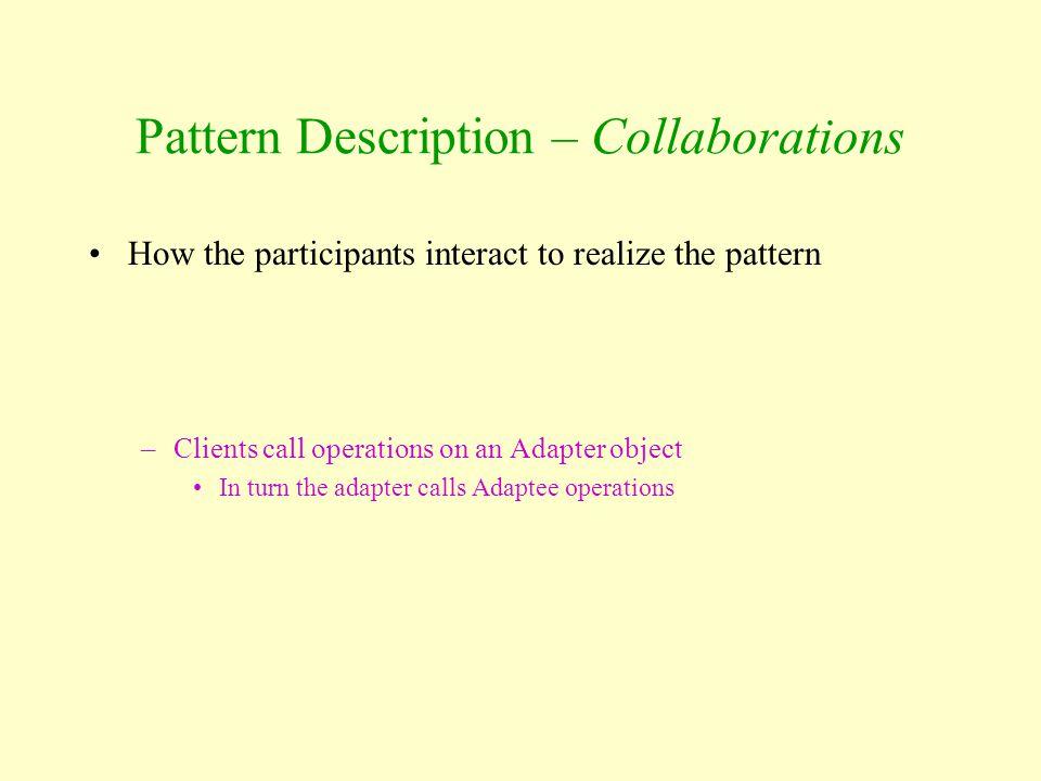Pattern Description – Collaborations