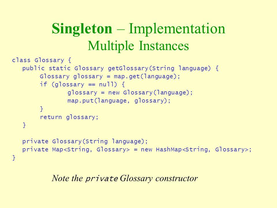 Singleton – Implementation Multiple Instances