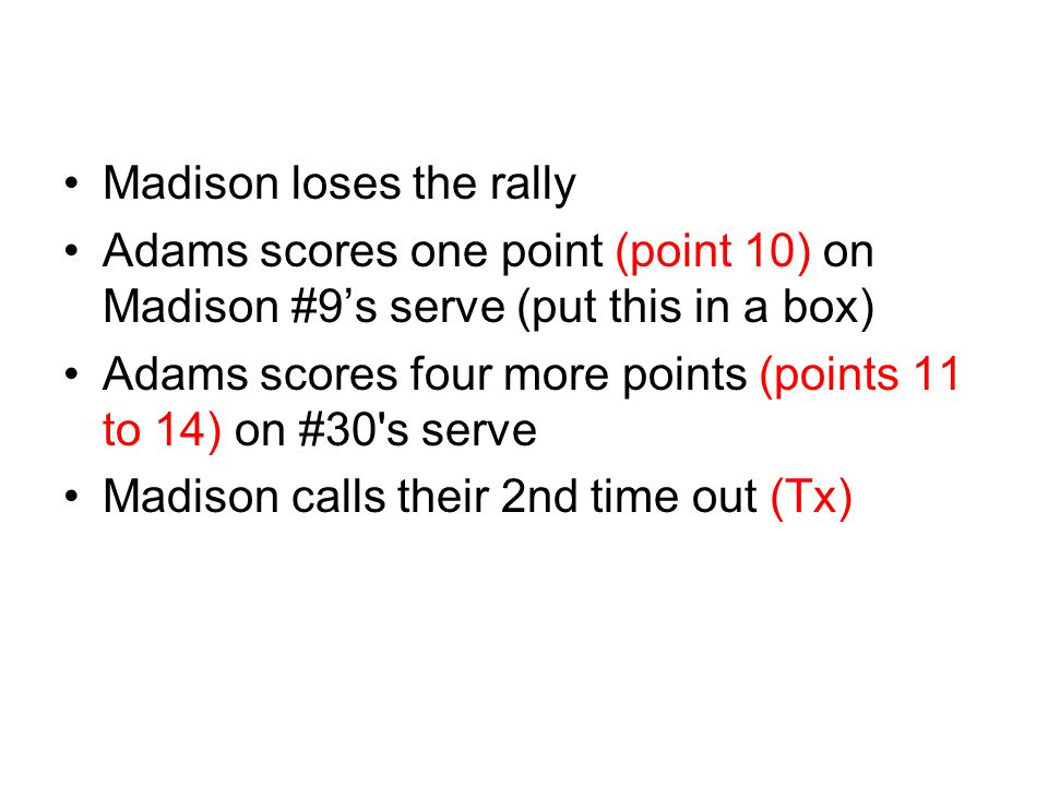 Madison loses the rally
