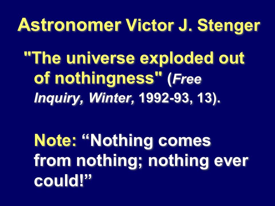 Astronomer Victor J. Stenger