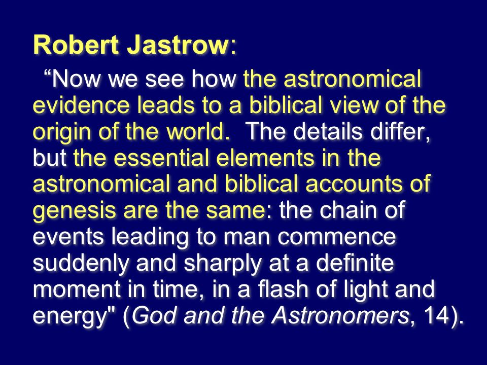 Robert Jastrow: