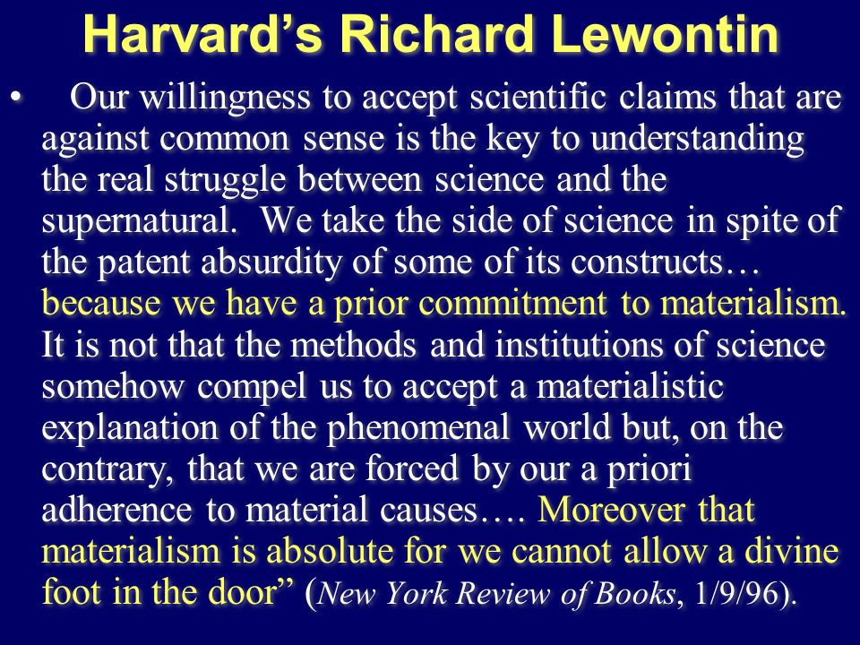 Harvard's Richard Lewontin