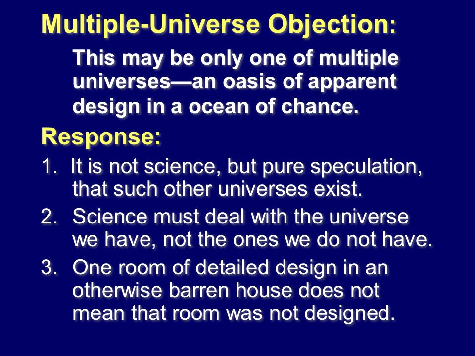 Multiple-Universe Objection: