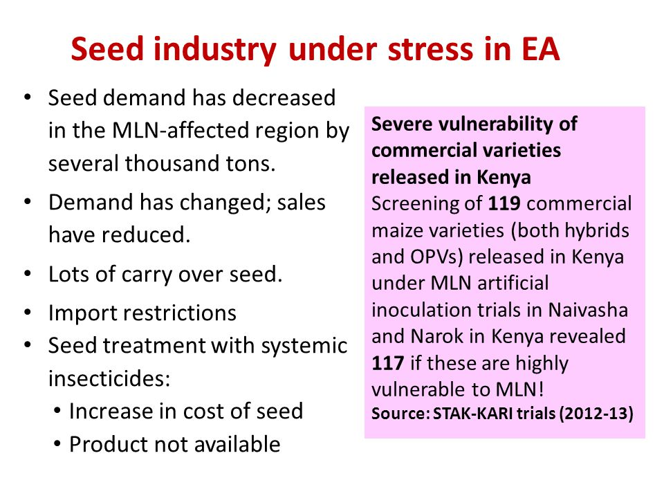 Seed industry under stress in EA