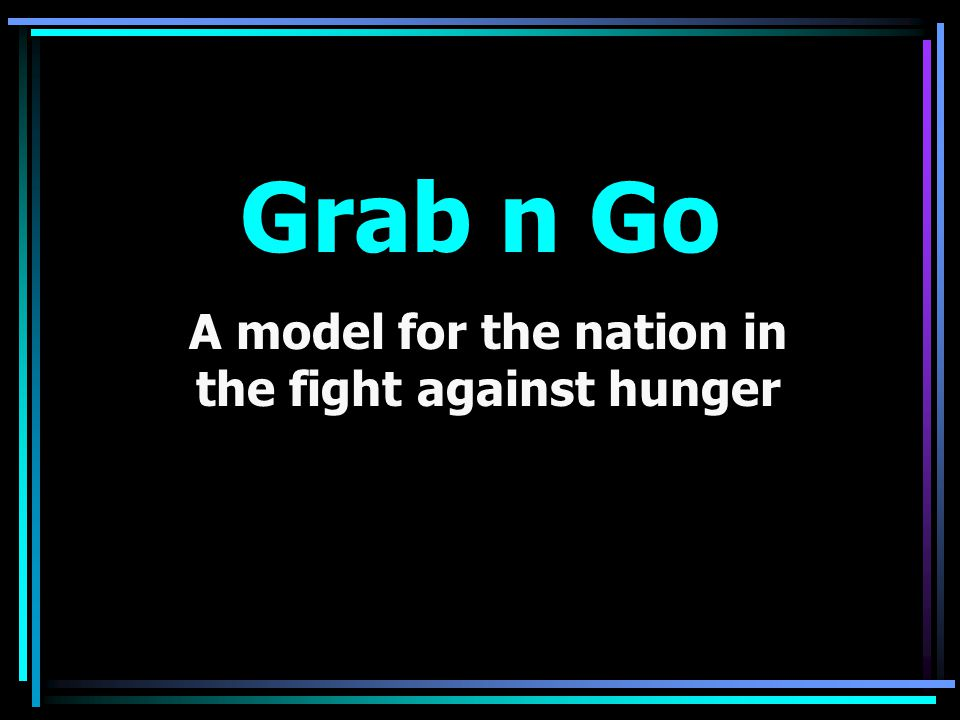 A model for the nation in the fight against hunger