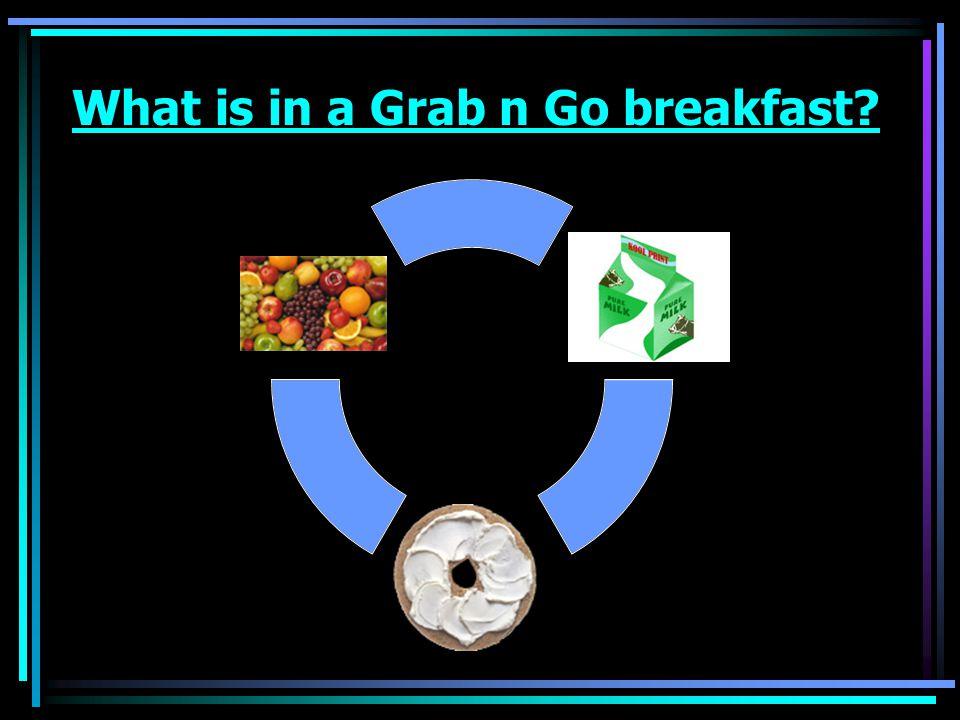 What is in a Grab n Go breakfast