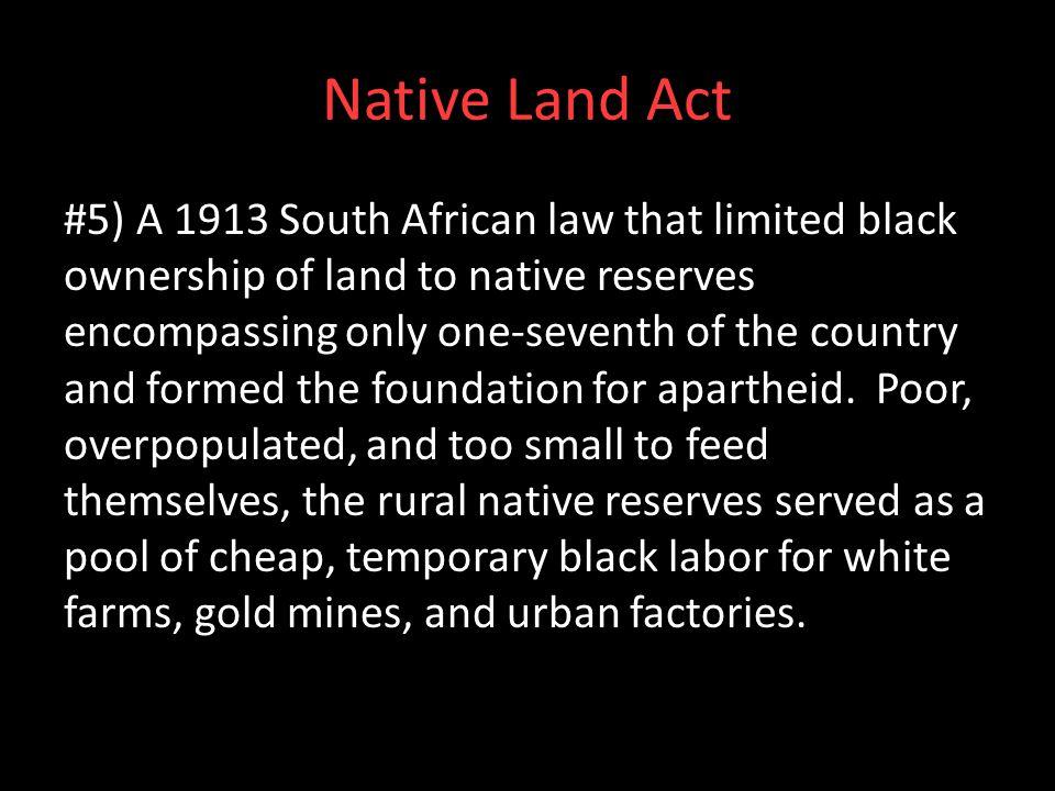 Native Land Act
