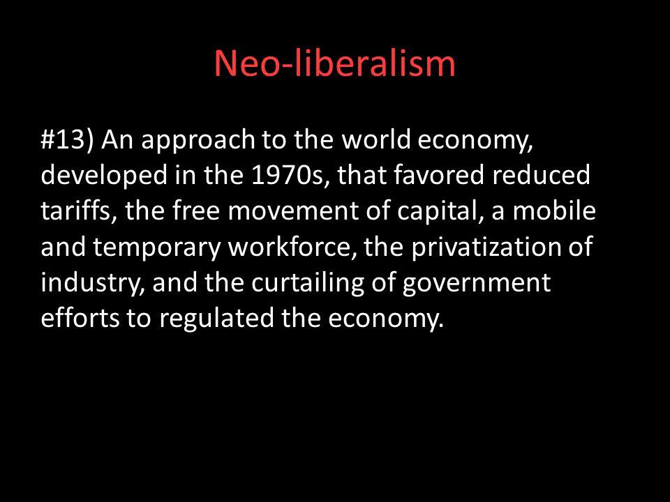Neo-liberalism