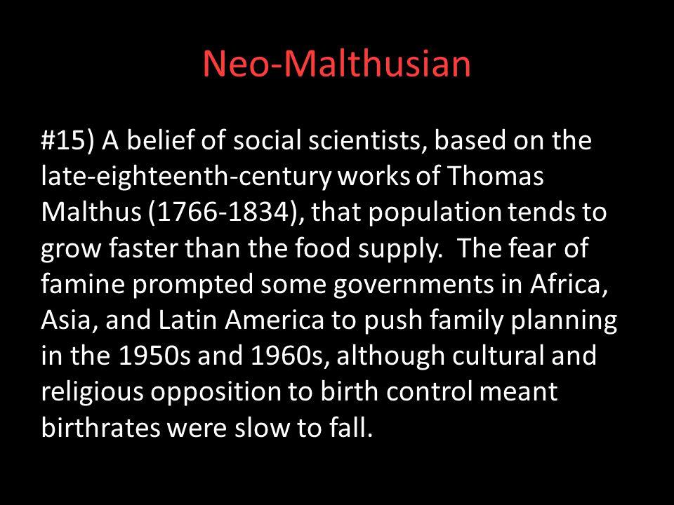 Neo-Malthusian