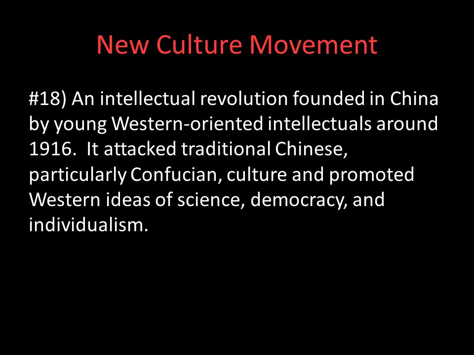New Culture Movement