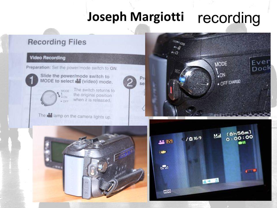 Joseph Margiotti recording