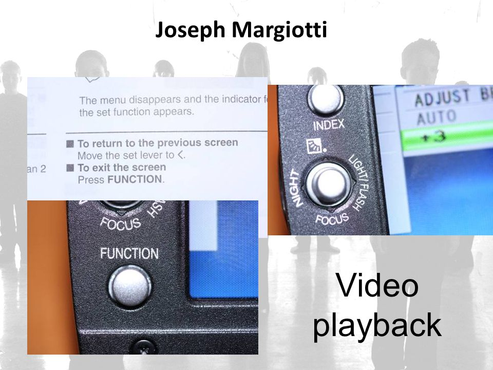 Joseph Margiotti Video playback