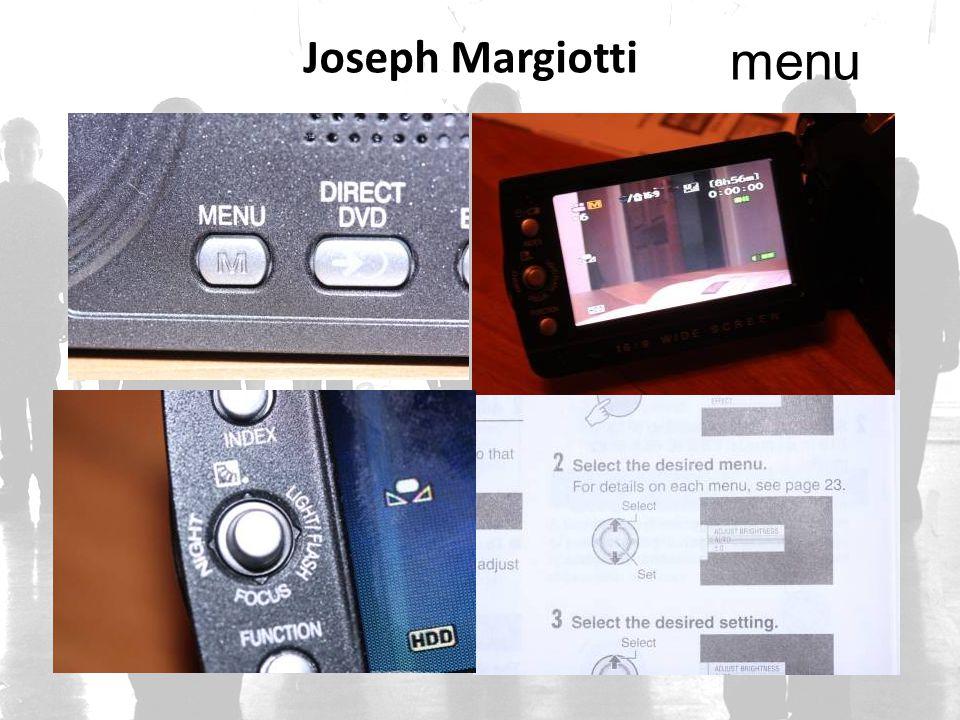 Joseph Margiotti menu