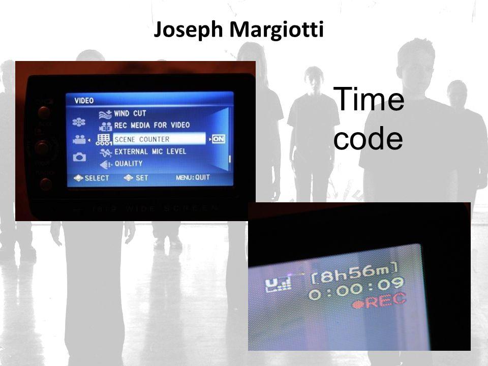 Joseph Margiotti Time code