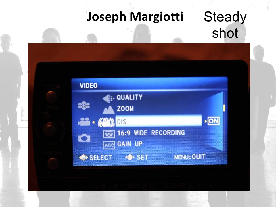 Joseph Margiotti Steady shot