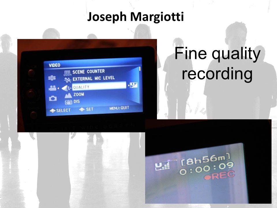 Joseph Margiotti Fine quality recording