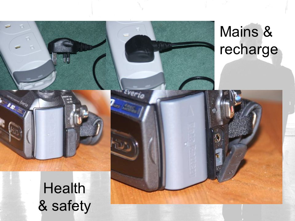 Mains & recharge Health & safety