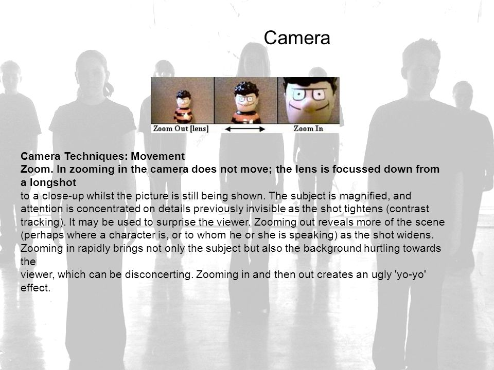 Camera Camera Techniques: Movement