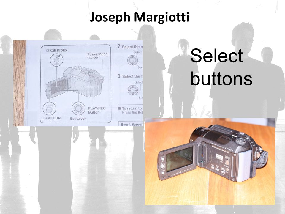 Joseph Margiotti Select buttons