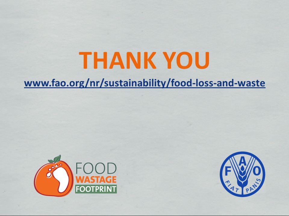 THANK YOU www.fao.org/nr/sustainability/food-loss-and-waste