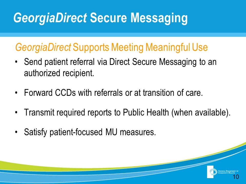GeorgiaDirect Secure Messaging