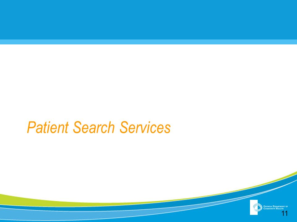 Patient Search Services