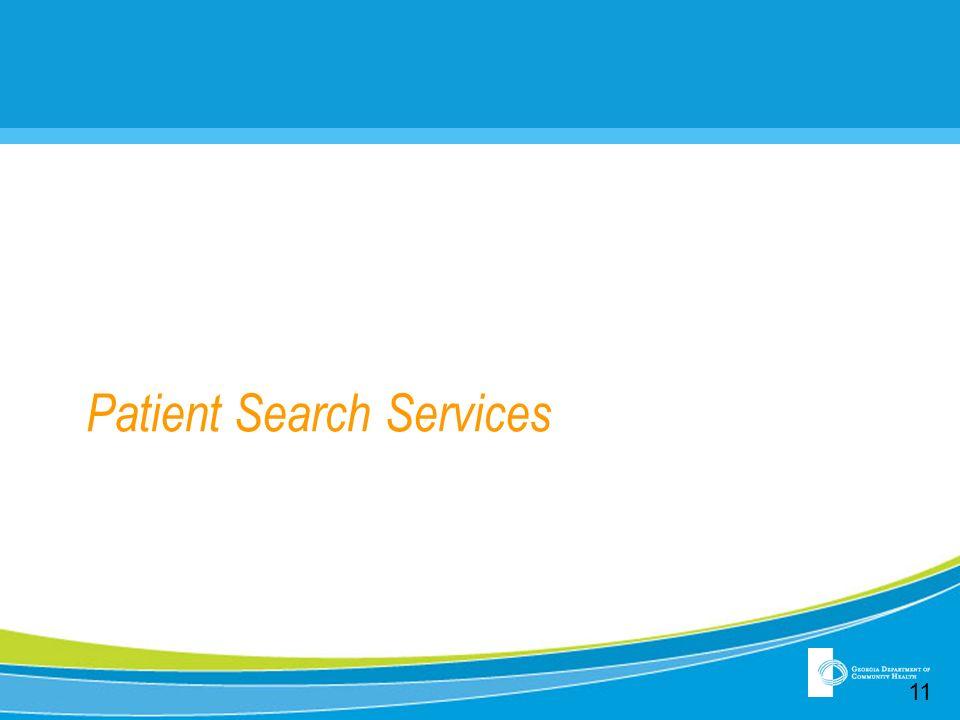 Patient Search Services