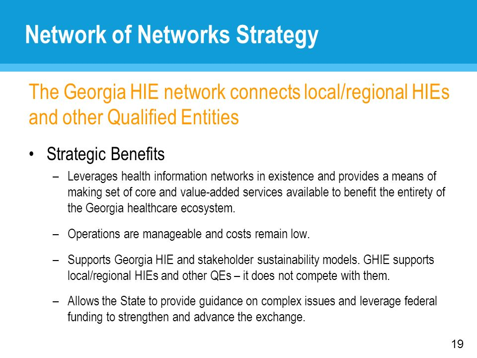 Network of Networks Strategy