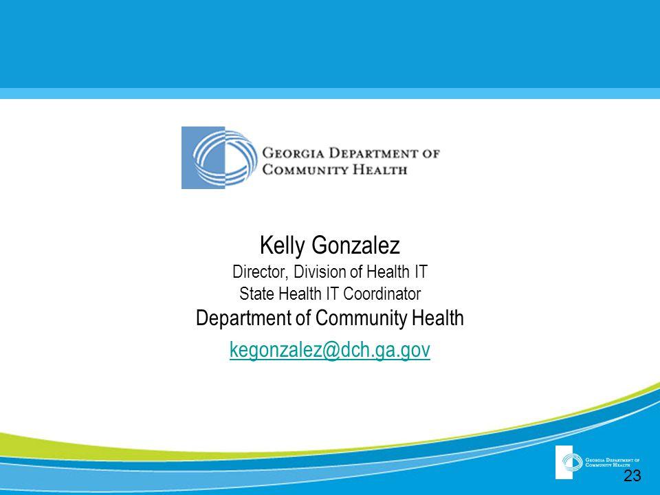 insert Kelly Gonzalez Department of Community Health
